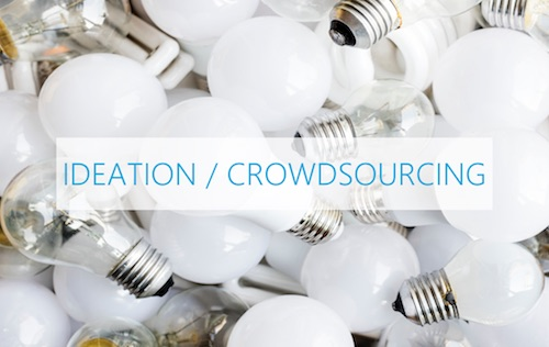 Ideation / crowdsourcing, collect ideas through multiple channels