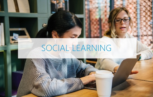 Social learning focused at the practice